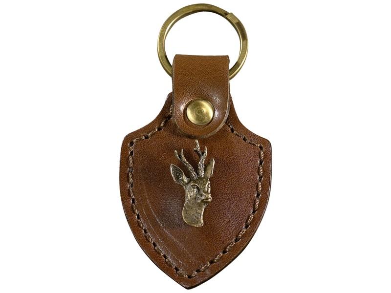 Porte Clés Cuir Et Laiton Figurine Animaux - Porte clé cuir