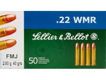 Cartouche 22 WMR FMJ Sellier Bellot