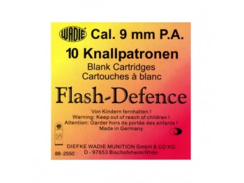 CARTOUCHES 9MM PA FLASH DEFENCE A BLANC X10