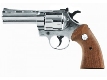 Revolver KIMAR Python 4'' Chrome 9MM/380RK crosse bois