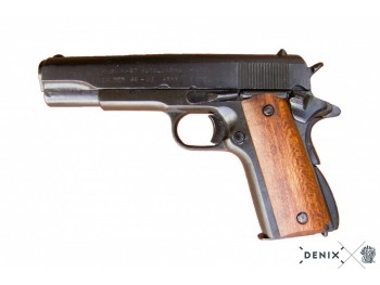 REPLIQUE DENIX INERTE COLT, USA 1911 NOIR