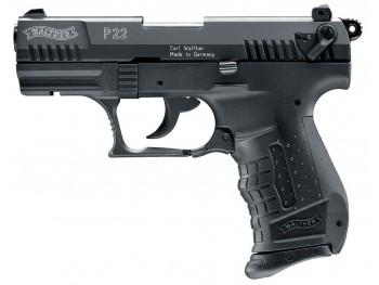 Pistolet 9 mm à blanc Walther P22 noir