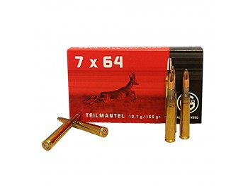 CART 7X64 GECO 1/2 BLINDEE SOFT POINT 165GR/10.7G