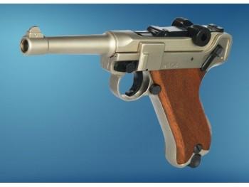 Pistolet Luger P08 Nickel à blanc